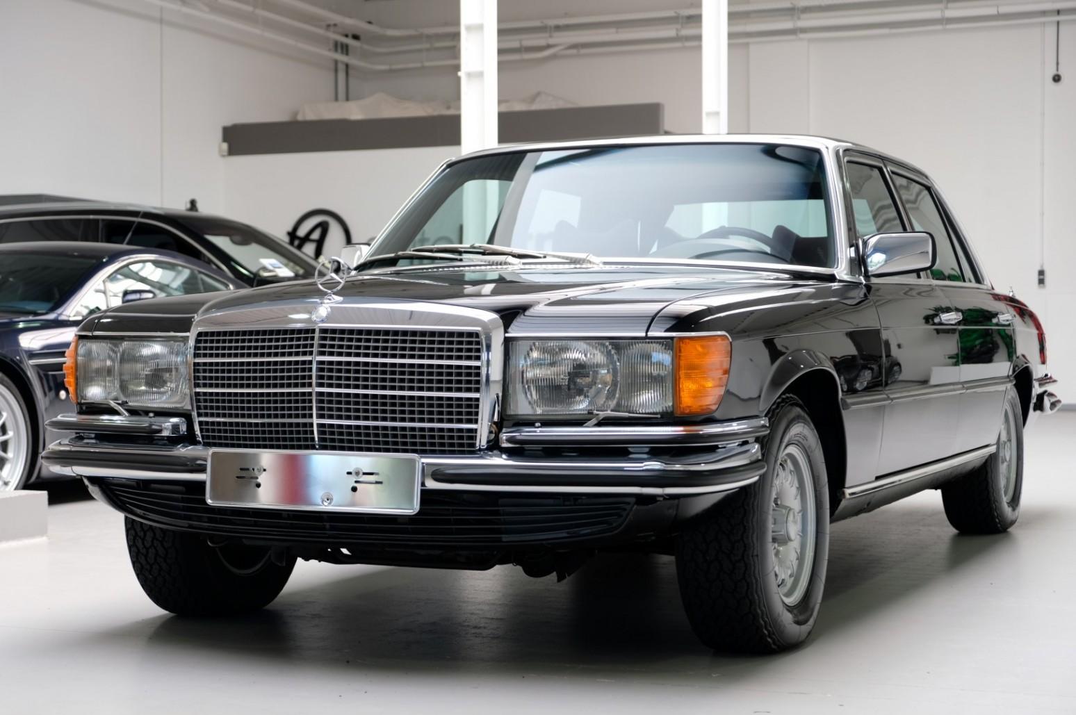 1977 mercedes 450 sel 6 9 w116 lakzwart zum kauf bei auto. Black Bedroom Furniture Sets. Home Design Ideas